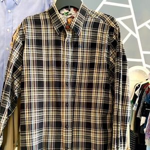 NWOT VOLCOM STRIPED BUTTON DOWN SHIRT SIZE LARGE